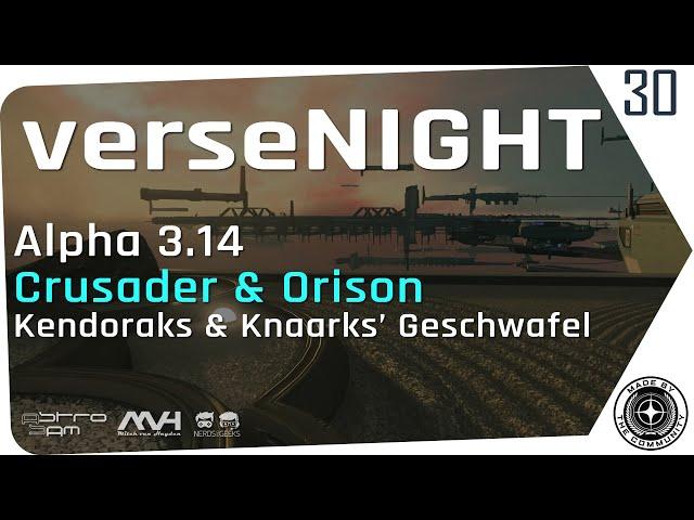 verseNIGHT #30 🌟 STAR CITIZEN Talk & Musik mit AstroSam & Mitch van Hayden 🚀 a3.14, Orison, SQ42News