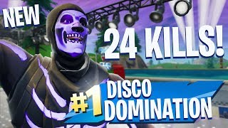 HIGHEST KILL GAME on DISCO DOMINATION!! - Fortnite Battle Royale!