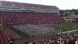 Arkansas Razorbacks - Marching band and Woo Pig Sooie