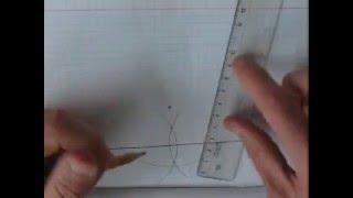Построение перпендикуляра к данной прямой из данной точки вне данной прямой - быстрое повторение.