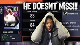 101 OVR SIXTH MAN OF THE YEAR LOU WILLIAMS GAMEPLAY!!! NBA LIVE MOBILE 18