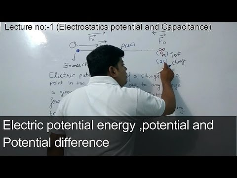 Electric (Potential,Potential difference &Potential energy) (Electrostatic potential Lec: 1)