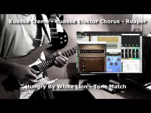 White Lion Hungry guitar tone match - Kuassa Creme and Reaper DAW