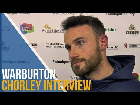 Matty Warburton Post-Match Interview - Chorley FC