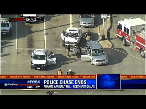 Dallas PD chase ends with suspect detained by citizens