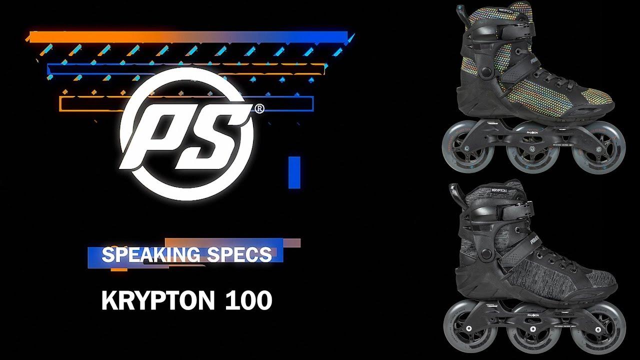 67285a0ba17 Powerslide Phuzion Krypton 100 skates - Speaking Specs - YouTube