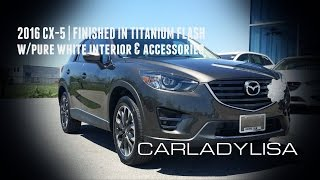2016 CX-5 | GT Model finished in Titanium Flash with Accessories