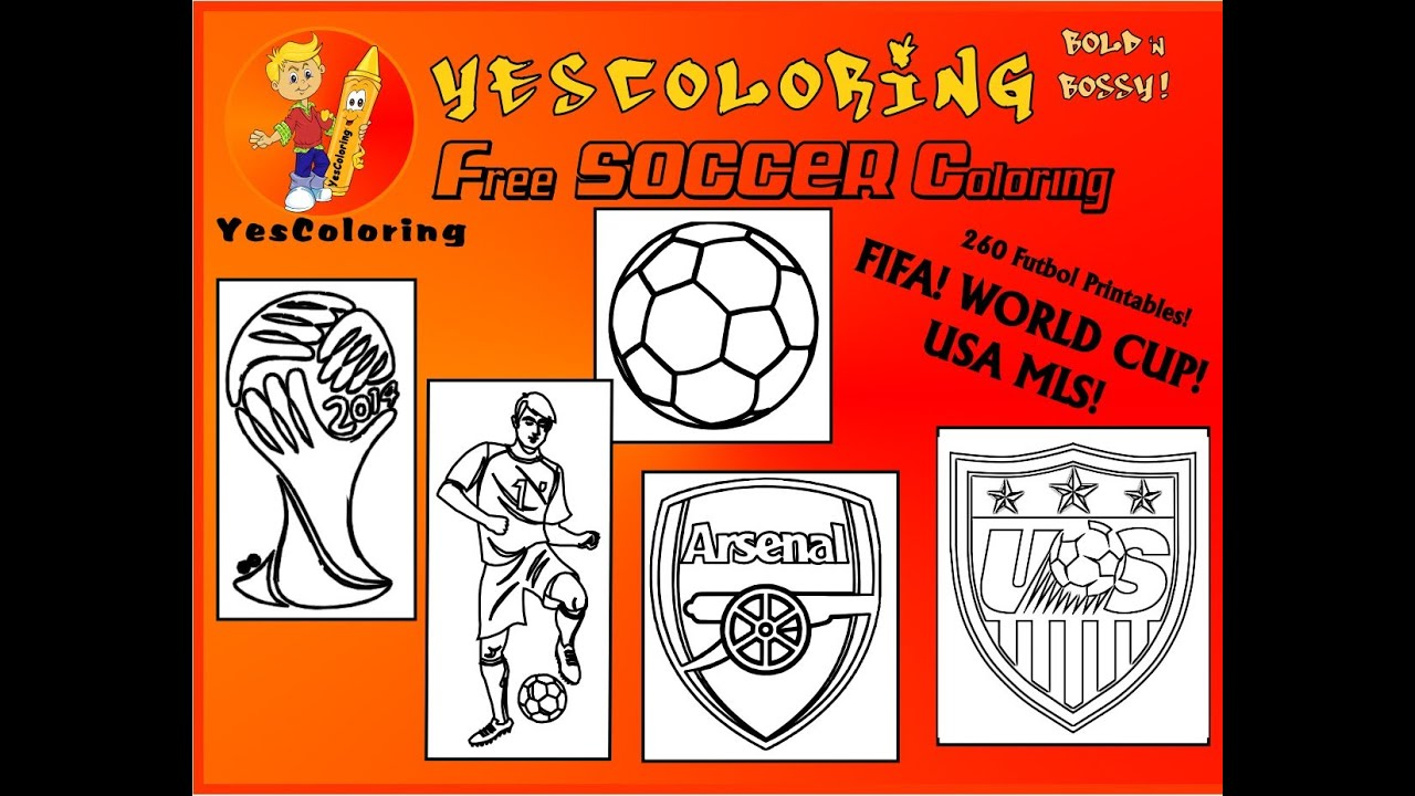 Pro Soccer Coloring Pages\