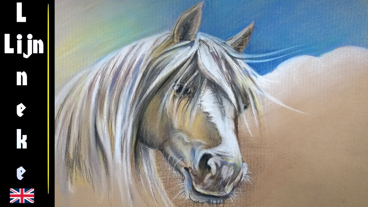 How To Draw A Palomino Horse Head With Pastel Pencils Easy Tutorial