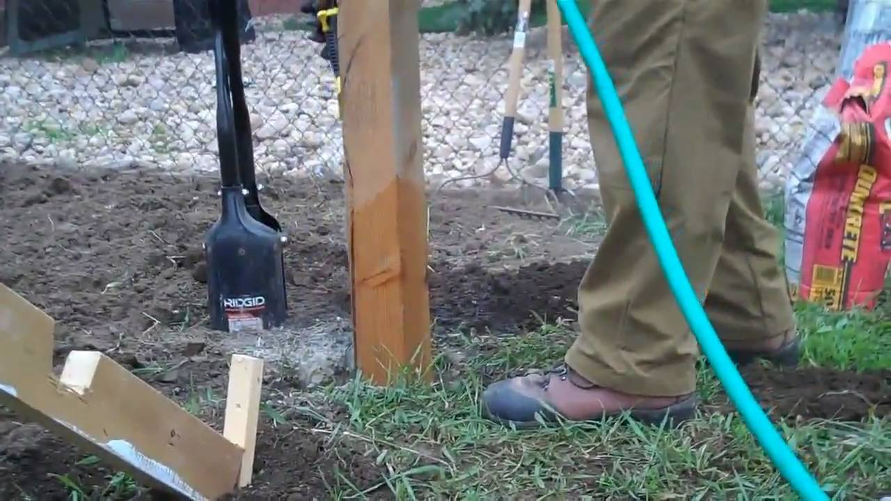 How To Set A Fence Post Youtube