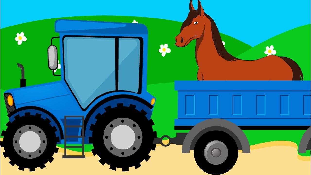 Мультик для Детей про Домашних Животных - Лошадь. Развивающий Мультфильм для Малышей. Видео для Дете
