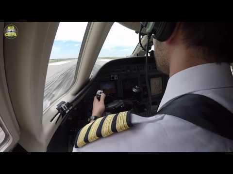 Captain Benny's SUPER TAKEOFF, EARLY ROTATION on Citation Sovereign Jet, by Hahn Air! [AirClips]