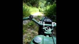 bsa bantam d1 125cc forest ride