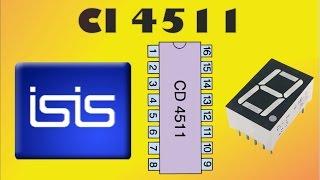 eletrnica digital 9 ci 4511 software proteus isis decodificador para display 7 segmentos
