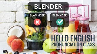 How to say Blender Kettle Spatula etc Hello English Pronunciation Class 52