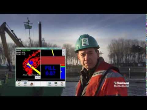 Dredging in Zeebrugge - Carlson Machine Control DredgeRover™ Application Video