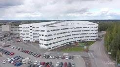 Hyvinkään sairaalan uusi H-rakennus - dronevideo