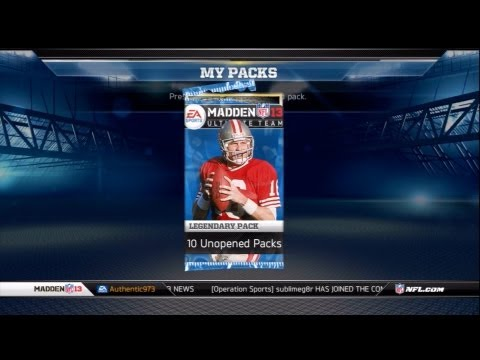 Madden 13 - Ultimate Team Opening LEGEND & ALL-PRO Card Packs (MUT)