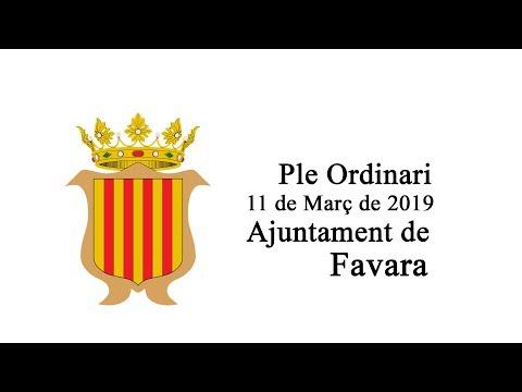 Ple Ordinari 11 de Març de 2019 Ajuntament de Favara