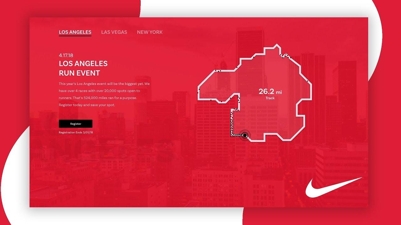 Madison propietario Conciso  Nike Just Run (Redesign) - Web Design Speed Art - YouTube