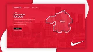 Nike Just Run (Redesign) - Web Design Speed Art