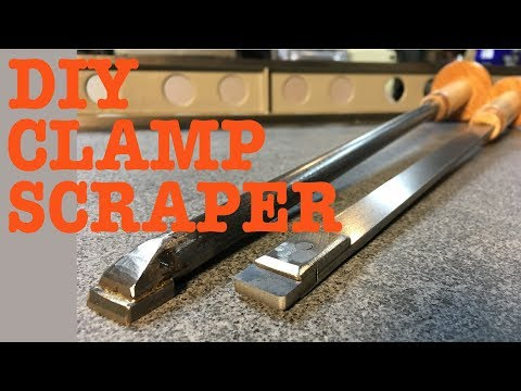 Home made clamping style metal scraper DIY with surprise footage