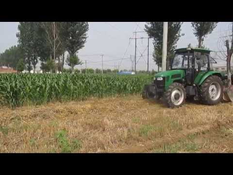 Straw chopper/flail mower/shredder for wheat with guide plates