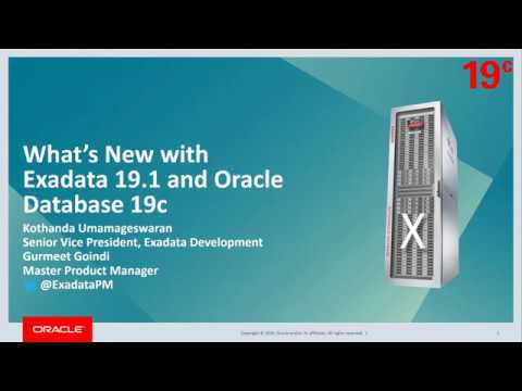 What's New in Oracle Exadata 19 1 and Oracle Database 19c
