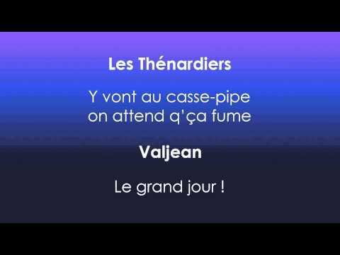 Les Misérables Paris 1991 - Le grand jour - PAROLES/LYRICS