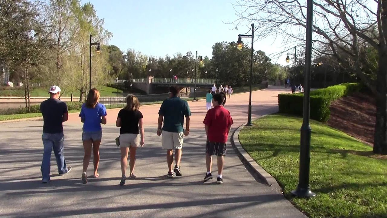 Walk From Boardwalk Resort To Entrance Of Epcot 5 1 2