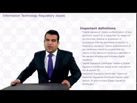 INFORMATION SYSTEMS CONTROL \u0026 AUDIT - INFORMATION TECHNOLOGY REGULATORY ISSUES
