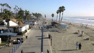 Oceanside California boardwalk from pier looking south 00019