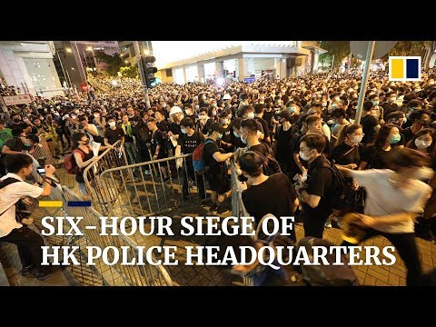 Six-hour siege of Hong Kong's police headquarters