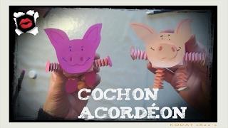 Atelier créatif pour enfants: Le cochon accordéon