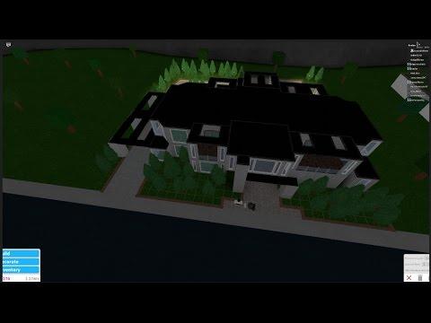 Roblox Bloxburg Modern Villa Speedbuild Youtube
