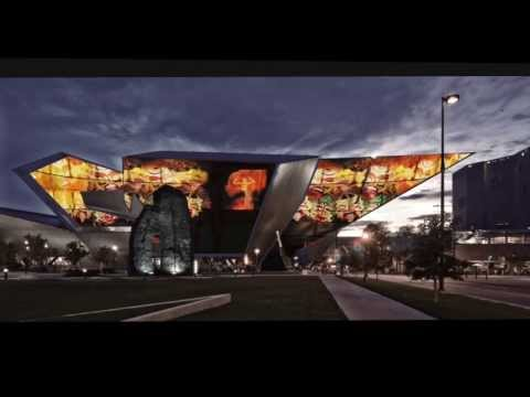 Concept / Denver Art Museum, with Exterior Video Walls...video content by The Fake Factory.