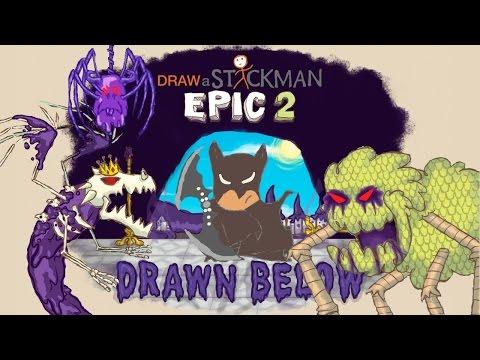 Guide AZ - Draw a Stickman Epic 2 - Drawn Below -  All Boss Fight
