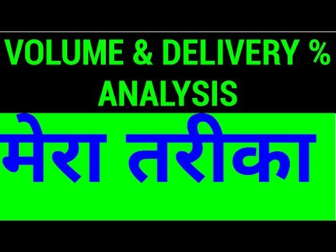 Volume and Delivery % Analysis - How to Do it Yourself | HINDI