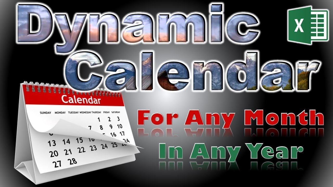 Create a Dynamic Calendar in Excel For Any Month in Any Year