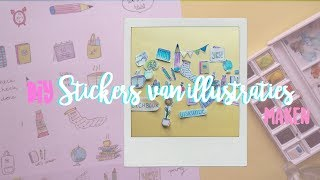 Maak je eigen STICKERS van illustraties✏️📚💛   Little magic DIY  - BACK TO SCHOOL
