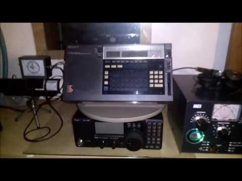 Pile up: Radio Sonder Grense in Afrikaans vs Voice of Korea in Japanese 9650KHz 11:22UTC