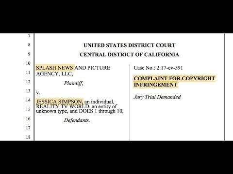 Jessica Simpson lawsuit alleges Copyright Management Information violation