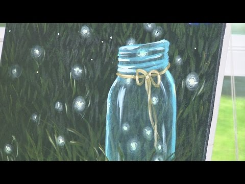 Fireflies in Mason Jar Painting Lesson