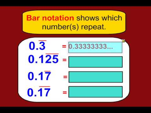Expressing Fractions as Terminating or Repeating Decimals