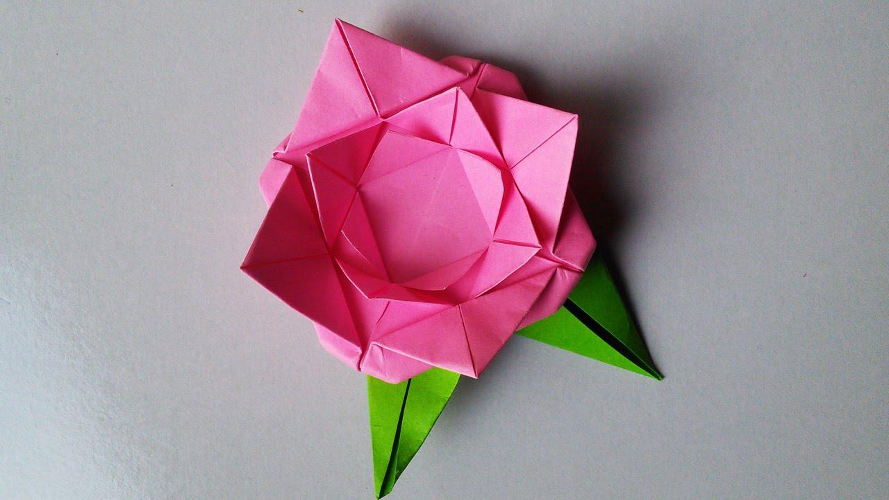 Handmade paper flower rose origami handiworks 22 youtube youtube premium mightylinksfo