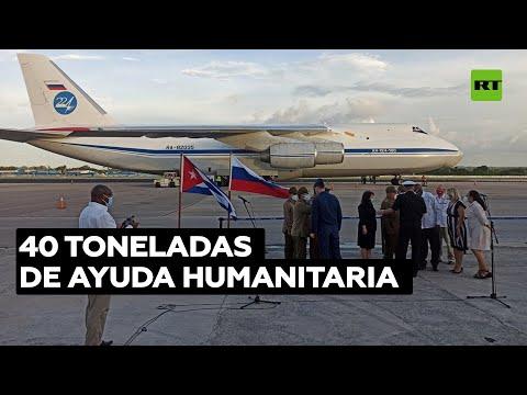 Arriba a Cuba un avión ruso con 40 toneladas de alimentos