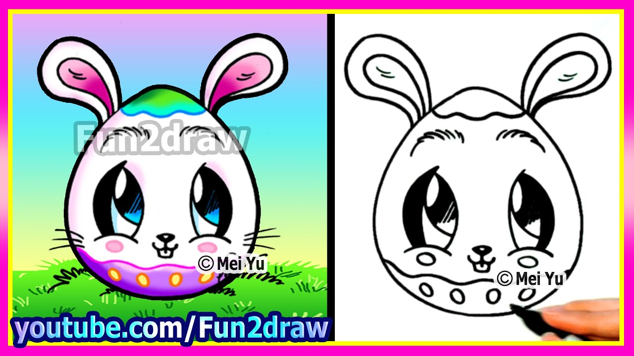 How To Draw A Bunny Egg  Fun2draw