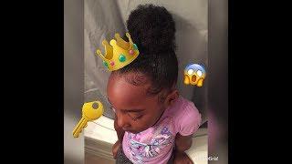 DOING MY LITTLE SISTER HAIR !!! 😍💜