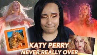 KATY PERRY - NEVER REALLY OVER (Official Music Video) REACTION | IS KATY BACK?!