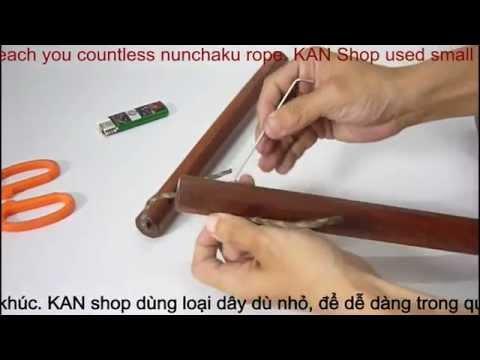 Hướng dẫn vô dây côn nhị khúc | How to tie double cord | 쌍절곤 | 雙截棍 | Нунчаку | ヌンチャク